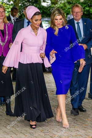 Stock Image of Sheikha Mozah Bint Nasser Al Missned and Queen Maxima