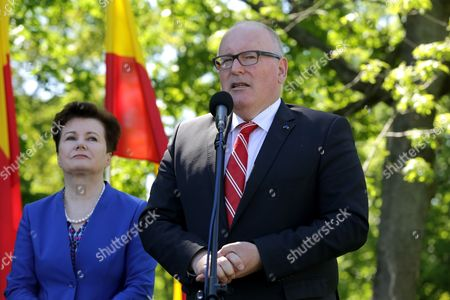 Frans Timmermans and Hanna Gronkiewicz-Waltz