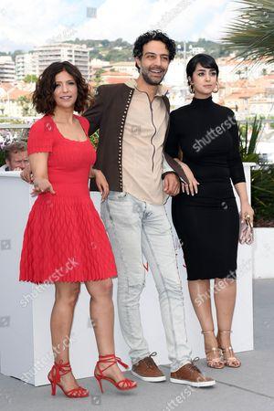 The director Kaouther Ben Hania, Ghanem Zrelli, Mariam Al Ferjan