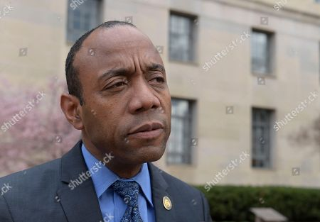 Stock Image of President Cornell William Brooks speaks outside the Justice Department in Washington. Sources tell The Associated Press that Brooks will not be returning as the civil rights organization's leader when his contract expires this summer