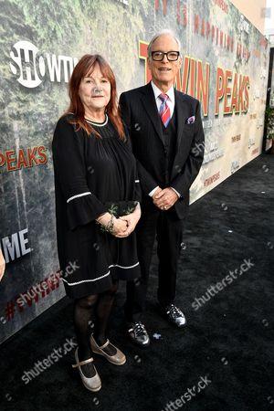 Stock Photo of Johanna Ray and Richard Chamberlain