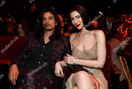 Stock Photo of Joseph Skorman and Chrysta Bell