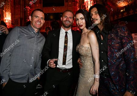 Stock Picture of Chrysta Bell, Joseph Skorman and guests