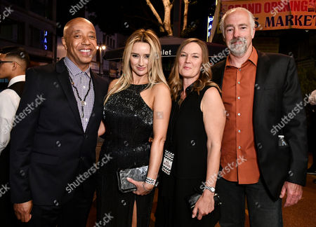 Stock Photo of Russell Simmons, Amy Shiels, Robin Gurney and guest