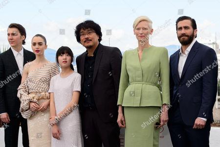 Paul Dano, Lily Collins, Ahn Seo-Hyun, Bong Joon-Ho, Tilda Swinton and Jake Gyllenhaal