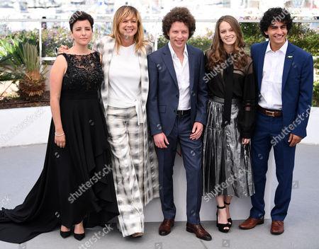 Stock Photo of Joanna Larequi, Emma Suarez, Michel Franco, Ana Valeria Becerril and Enrique Arrizon