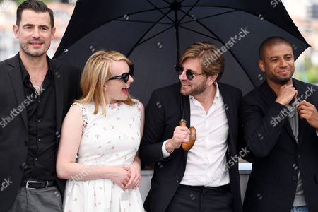 Stock Photo of Elisabeth Moss, Ruben Ostlund and Christopher Laesso