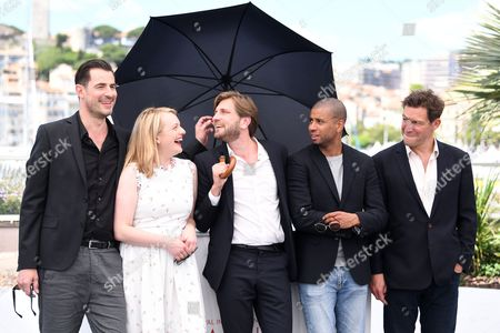 Claes Bang, Elisabeth Moss, Ruben Ostlund, Christopher Laesso and Dominic West