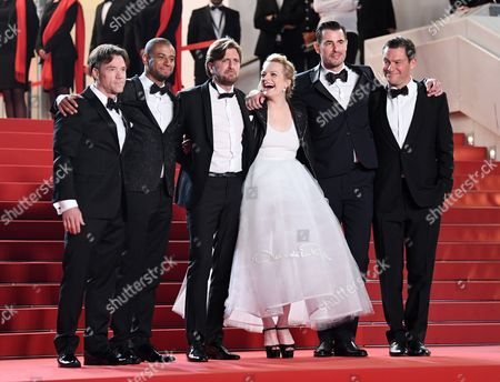 Terry Notary, Christopher Laesso, Ruben Ostlund, Elisabeth Moss, Claes Bang and Dominic West