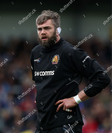 Geoff Parling of Exeter Chiefs during the warmup