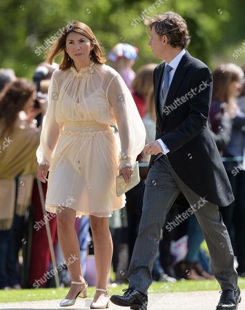 Rebecca Deacon arrives at the wedding