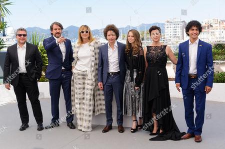 Cast of 'Alice's Daughter' L-R: Rodolda Cova, Lorenzo Vigas, Emma Suarez, Michel Franco, Ana Valeria Becerril, Joanna Larequi, Enrique Arrizon
