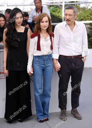 Kim Min-Hee, Isabelle Huppert and Hong Sang-soo