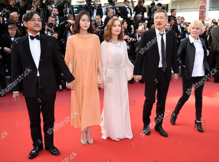 Stock Image of Jeong Jinyoung, Kim Min-Hee, Isabelle Huppert and Hong Sang-soo