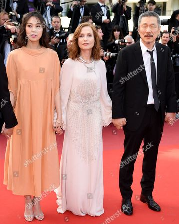 Stock Picture of Kim Min-Hee, Isabelle Huppert and Hong Sang-soo