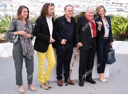 Camille Lotteau, Francois Margolin, Claude Lanzmann and Iris Van Der Waard