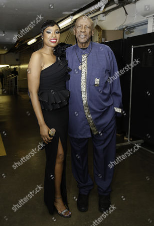 Jennifer Hudson and Lou Gossett Jr Jr.