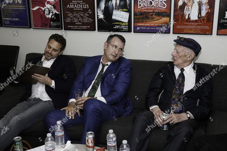 Stock Image of Thomas Sadoski, Jon Robin Baitz and Alan Mandell