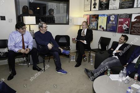 Alfred Molina, Matthew Broderick, Harry Groener and Thomas Sadoski