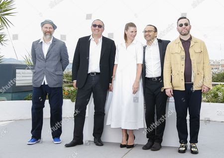 (R-L) Russian actor Alexeyv Rozin,  Russian director Andrey Zvyagintsev, Russian actress Maryana Spivak, Producer Alexander Rodnyansky and Director of Photography Mikhail Krichman  pose during the photocall for 'Nelyubov' (Loveless) at the 70th annual Cannes Film Festival, in Cannes, France,  18 May 2017. The movie is presented in the official competition of the festival which runs from 17 to 28 May.