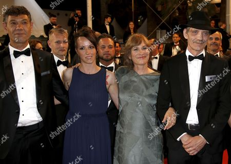 (L-R) Actor Syuleyman Alilov Letifov, Bulgarian actress Vyara Borisova, German director Valeska Grisebach and Actor Mainhard Neumann arrive for the screening of 'Mugen No Junin' (Blade of the Immortal) during the 70th annual Cannes Film Festival, in Cannes, France, 18 May 2017. The movie is presented out of competition at the festival which runs from 17 to 28 May.