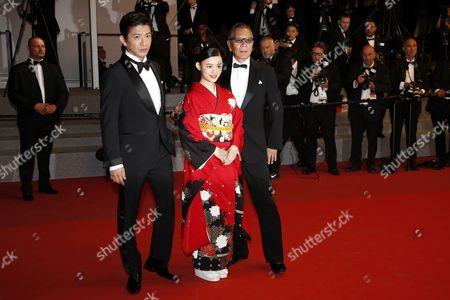 Hanna Sugisaki, Takashi Miike and Takuya Kimura