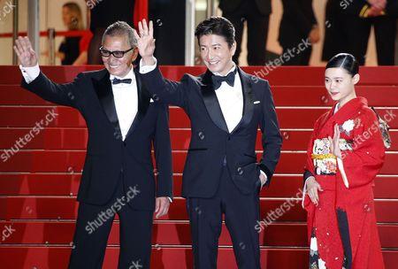 Stock Picture of Hanna Sugisaki, Takashi Miike and Takuya Kimura