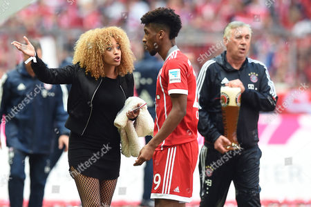 Stock Picture of ....Kingsley Coman ( München ), with wife Sephora Coman
