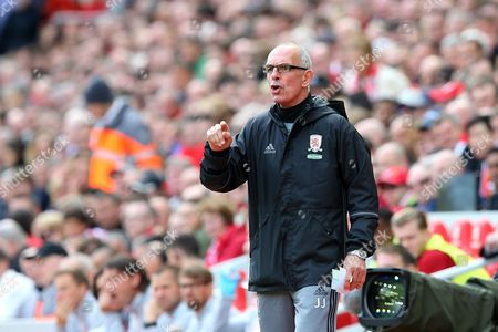 Middlesbrough Assistant Manager Joe Jordan during the Premier League match between Liverpool and Middlesbrough played at Anfield, Liverpool on 21st May 2017