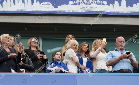 Toni  Terry (centre) with Terry Family  in tears as Husband John  leads team on  to a standing ovation    during  the Final  Premier League match 0f the season between  Champions Chelsea and  Suderland played at  Stamford Bridge London  on  21st  May  2017
