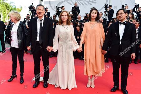 Hong Sang-soo, Kim Min-Hee, Isabelle Huppert and Jeong Jinyoung