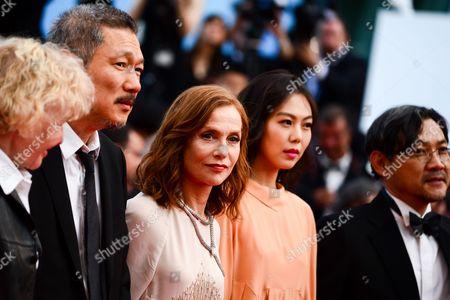 Hong Sang-soo, Isabelle Huppert, Kim Min-Hee and Jeong Jinyoung