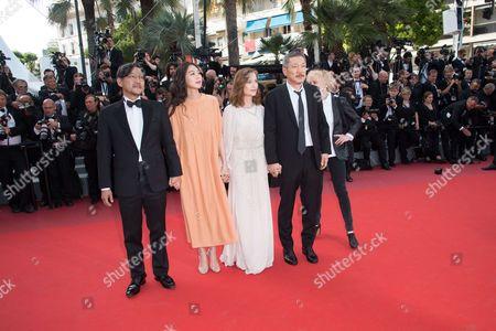 Claire Denis, director Hong Sang-soo, Isabelle Huppert, Kim Min-heet and Jeong Jinyoung