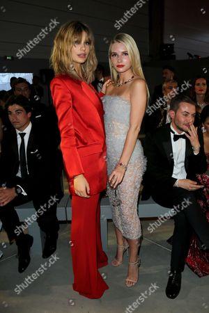 Cami Morrone and Lottie Moss