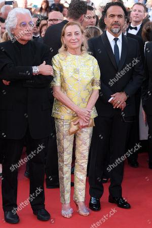 Miuccia Prada and Alejandro G. Inarritu