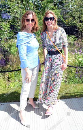 Katie Derham and Darcey Bussell at Wellington College Breaking Ground Garden sponsored by Darwin Property