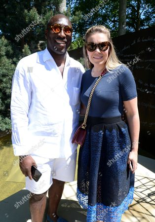 Sol Campbell and Fiona Barratt-Campbell at Wellington College Breaking Ground Garden sponsored by Darwin Property