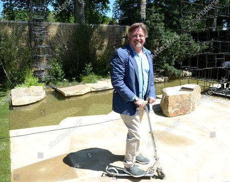 Charley Boorman at Wellington College Breaking Ground Garden sponsored by Darwin Property