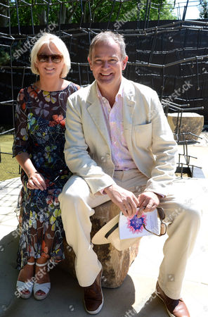 Lulu Evans and Hugh Bonneville at Wellington College Breaking Ground Garden sponsored by Darwin Property