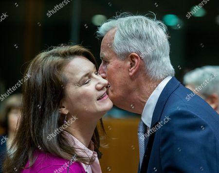 Michel Barnier and Ann Linde