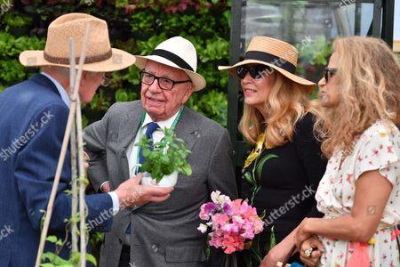 Rupert Murdoch, Jerry Hall Murdoch and Suzanne Wyman