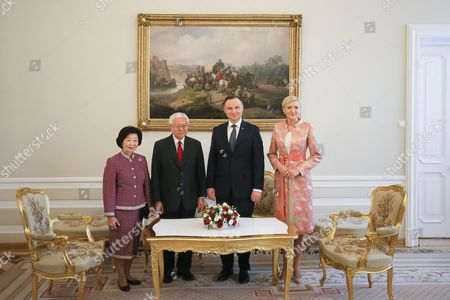 Andrzej Duda, Tony Tan Keng Yam and Mary Chee Bee Kiang