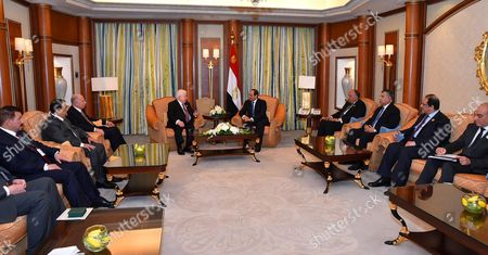 Stock Picture of Egyptian President Abdel Fattah al-Sisi meets with Iraqi President Fuad Masum