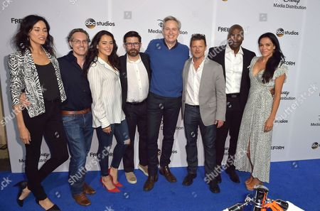 Cast of The Crossing; Sandrine Holt, Natalie Martinez, Rick Gomez, Jay Karnes, Steve Zahn, Simone Kessell, and Marcuis Harris