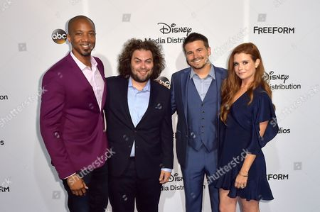 Cast of The Gospel of Kevin; J. August Richards, Dustin Ybarra, Jason Ritter and Joanna Garcia