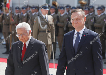 Andrzej Duda, Tony Tan Keng Yam Polish President Andrzej Duda, right, and President of Singapore Tony Tan Keng Yam attend a welcoming ceremony at the Presidential Palace in Warsaw, Poland