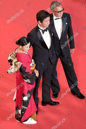 Stock Photo of Hanna Sugisaki, Takashi Miike and Takuya Kimura