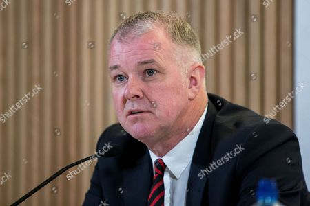 Stock Photo of Former Manchester United player Gary Pallister at today's announcement