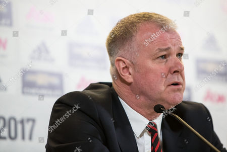 Stock Image of Former Manchester United player Gary Pallister at today's announcement