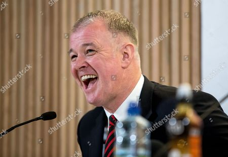 Former Manchester United player Gary Pallister at today's announcement